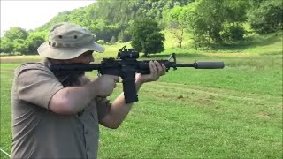 AR 15 With Silencer and Explosion