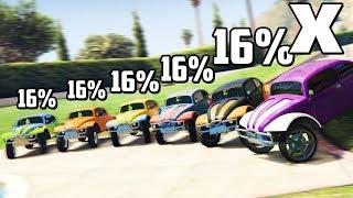 GTA 5 Online РУССКАЯ РУЛЕТКА - НАЕХАЛ НА ОЛИВЬЕЖИКА! ШАНС ПОБЕДЫ 16%! НАЙДИ 1 НУЖНУЮ МАШИНУ ИЗ 6!