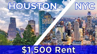 This is what you'll get for $1,500 rent in Houston and New York City.  Check out more awesome videos at BuzzFeedVideo! https://bit.ly/YTbuzzfeedvideo https://bit.ly/YTbuzzfeedblue1 https://bit.ly/YTbuzzfeedviolet  GET MORE BUZZFEED: https://www.buzzfeed.com https://www.buzzfeed.com/videos https://www.youtube.com/buzzfeedvideo https://www.youtube.com/asis https://www.youtube.com/buzzfeedblue https://www.youtube.com/buzzfeedviolet https://www.youtube.com/perolike https://www.youtube.com/ladylike  BuzzFeedVideo BuzzFeed Motion Picture's flagship channel. Sometimes funny, sometimes serious, always shareable. New videos posted daily!  Love BuzzFeed? Get the merch! BUY NOW: https://goo.gl/gQKF8m  MUSIC Licensed via Audio Network SFX Provided By AudioBlocks (https://www.audioblocks.com)  STILLS Map pointer martinspurny/Getty Images  VIDEO Manhattan, New York / Aerial Hugo Will/Getty Images Aerial video Manhattan New York felixmizioznikov/Getty Images Close view timelapse of the Houston city center hstiver/Getty Images Houston Texas Clouds Time Lapse Cityscape and Park StockFootageCanada/Getty Images Footage provided by VideoBlocks (http://vblocks.com/x/BuzzFeedYouTube)  Credits: https://www.buzzfeed.com/bfmp/videos/52059