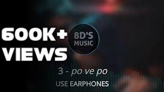 Po Ve Po (8D AUDIO🎧) - 3 (Telugu) || 🎧Use Earphones