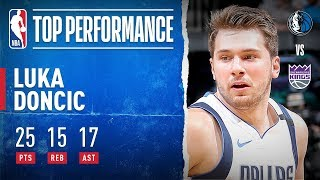 Luka Doncic set a career-high with 17 AST to go along with 25 PTS and 15 REB in the Dallas Mavericks' 127-123 win over the Sacramento Kings. It was Doncic's NBA-leading 12th triple-double of the season.   Subscribe to the NBA: https://on.nba.com/2JX5gSN  Full Game Highlights Playlist: https://on.nba.com/2rjGMge For news, stories, highlights and more, go to our official website at https://nba_webonly.app.link/nbasite Get NBA LEAGUE PASS: https://nba.app.link/nbaleaguepass5