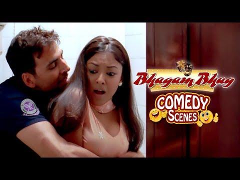 Akshay Kumar Flirts With Tanushree Dutta - Comedy Scene - Bhagam Bhag (2006)