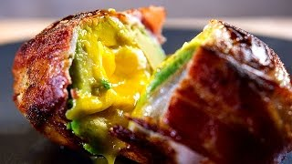 Bacon Wrapped Egg And Avocado Surprise