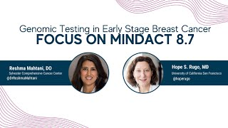 Genomic Testing in Early Stage Breast Cancer | What is changing? | Focus on MINDACT 8.7 from ASCO20