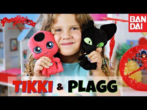 Prodigiosa Ladybug Peluches TIKKI & PLAGG de Bandai - Miraculous Ladybug Stuffed Dolls