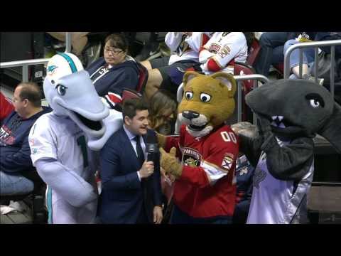 McKenzie interviews Stanley C. Panther & friends during intermission