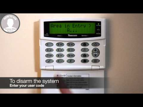 How to operate your Texecom Premier Elite alarm system via the keypad