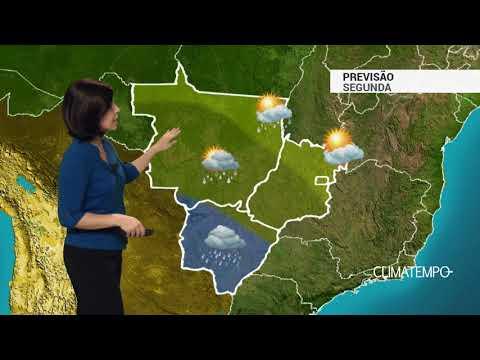Previsão Centro-Oeste – Alerta de chuva forte em MS
