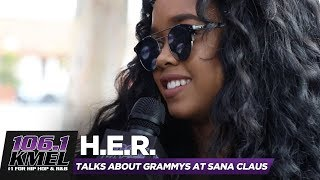 H.E.R. on Keeping Identity Secret, how she got HER name, Grammy Noms & More!