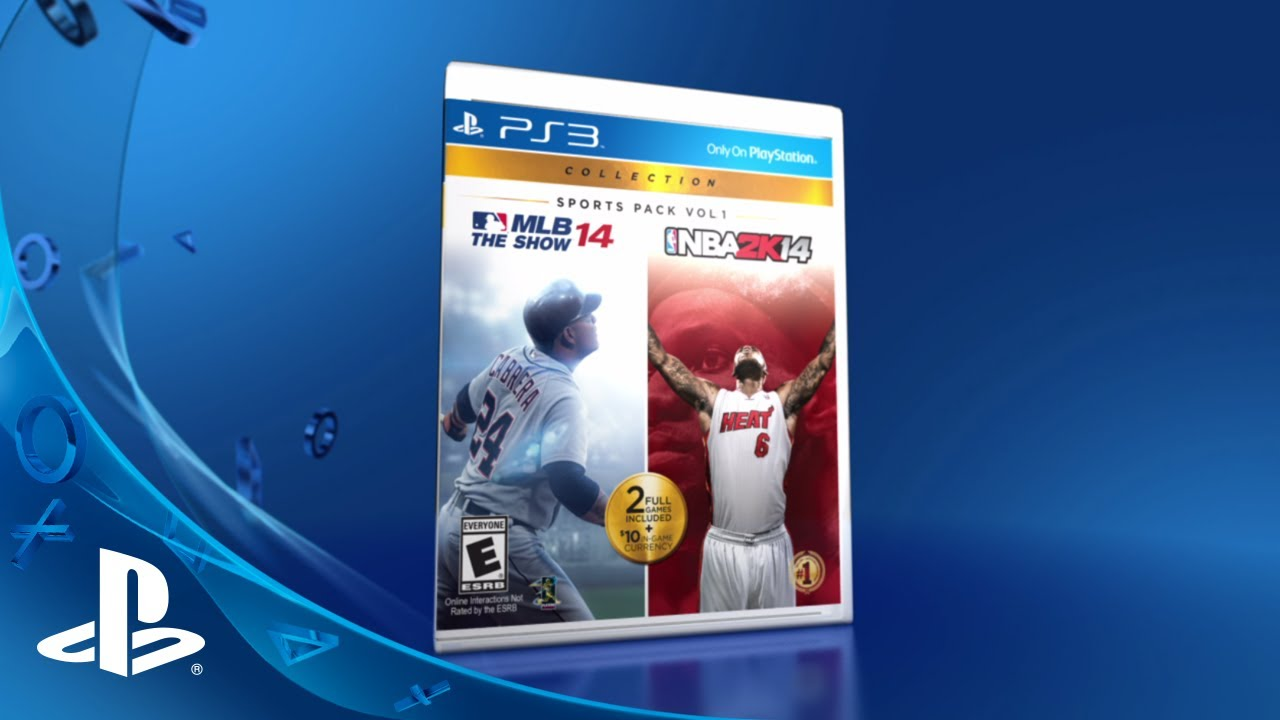 MLB 14 The Show, NBA 2K14 Bundled in PlayStation Sports Pack Vol. 1