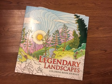 Coloring Book Review Legendary Landscapes By ColorWorth Play