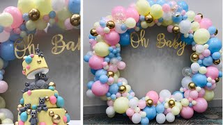 ORGANIC 8 FOOT BALLOON HOOP TUTORIAL | BABY SHOWER DECOR | SET UP WITH ME