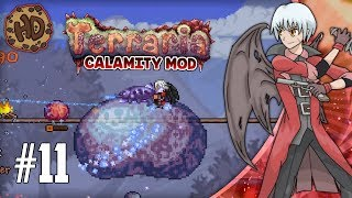 Terraria SLIME GOD PAIN & BLACK ANURIAN! | Terraria Calamity Let's Play | 1.3.5 Death Mode #11