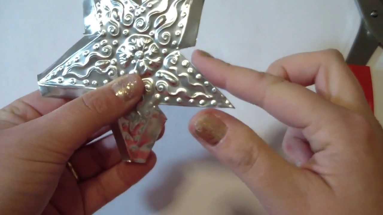 STELLINE IN ALLUMINIO ♥ Stelline in rilievo con vaschette d'alluminio ♥ Riciclo Creativo