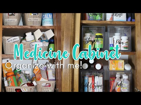 MEDICINE CABINET ORGANIZE WITH ME   SMALL SPACE ORGANIZATION 2021   EASY ORGANIZATIONAL PROJECTS