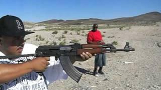 Freddy Shooting An Ak47