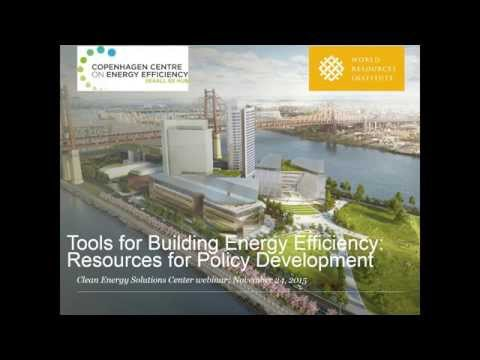 Tools for Building Energy Efficiency: Resources for Policy Development