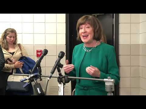 """Republican Sen. Susan Collins of Maine says she's """"appalled"""" by President Donald Trump's tweet criticizing his Supreme Court nominee's accuser. (Sept, 21)"""