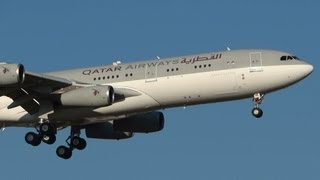 preview picture of video 'QATAR Amir Fly A340-211 [A7-HHK] landing @ Rome Ciampino G.B. Pastine Airport'