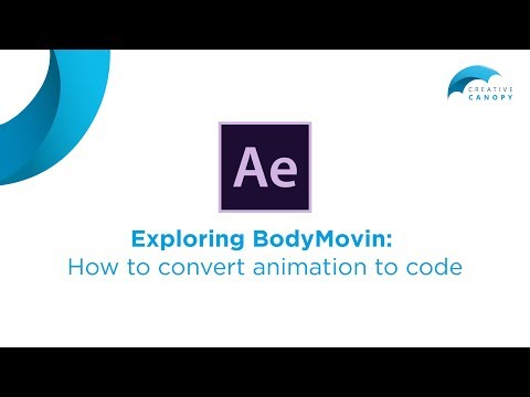 Adobe After Effects: Convert Animation Into Code (BodyMovin