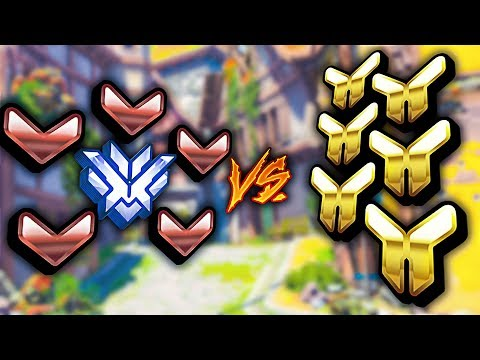 Can a Top 500 CARRY 5 Bronze VS 6 Gold Players? - Overwatch