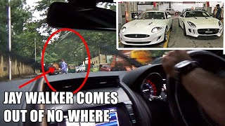 Riding in 2 LOUD Jaguar Sport Cars in INDIA - Jaywalker, Traffic & LOUD V8