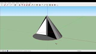 Como Fazer Um Cone E Uma Esfera No SketchUp!! Curso Basico (3/3)