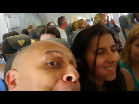 turbulence on kos flight thomas cook 2017
