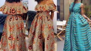 2020 Maxi /Midi Ankara Dress , Ankara Maxi Skirt , Aso Ebi Styles, African Fashion