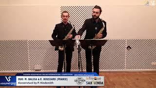 DUO Marin BALSSA et Etienne BOUSSARD play Konzerstuck by P, Hindemith #adolphesax