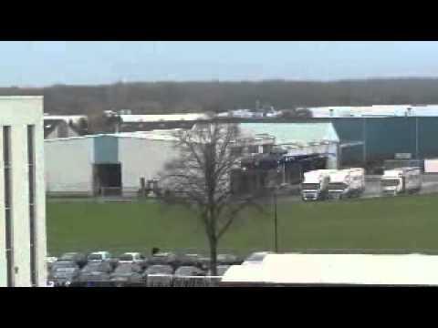 Máxima in Boxmeer - aankomst met helikopter