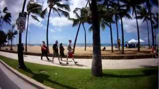 preview picture of video 'Ride Along Kalakaua Avenue 2/7/2013 Waikiki Beach'
