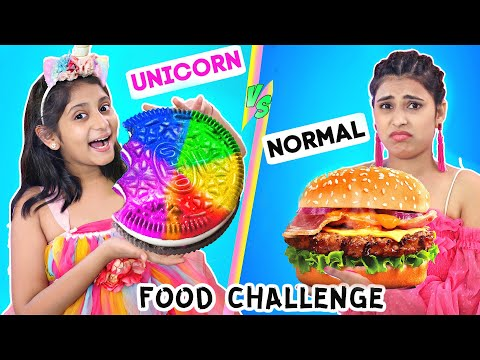 Unicorn vs Normal - DIY FOOD CHALLENGE | MyMissAnand