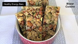 Healthy Energy Bars Recipe, Healthy  Snack , Protein Bar Energy Nuts Bar ,,Ramzan ,Special, Recipes