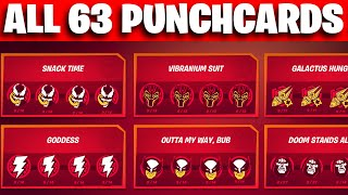 How To Complete ALL 63 Punchcards in fortnite chapter 2 Season 4 (ALL PUNCH CARDS )