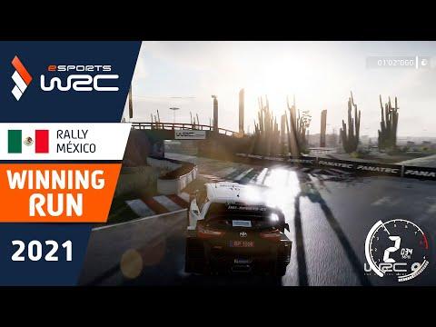 E-sports WRC2021 メキシコ セミ・ジョーのウィニング走行を収めたラリーハイライト動画