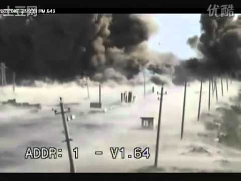 震撼!美军在伊拉克遇袭被拍下,34秒开始,秒杀一切大片!