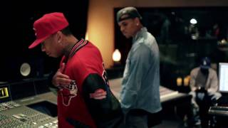 "Tyga - ""I'm So Raw"" in Studio Performance w/ Chris Brown"