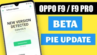 Oppo F9 And Oppo F9 Pro ColorOS 6 With Android Pie Update