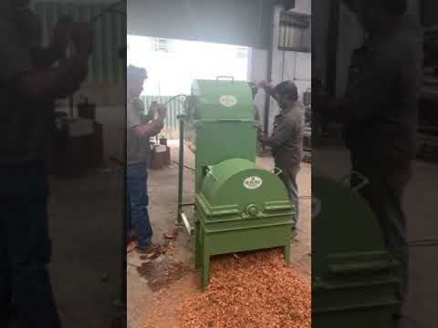 Coconut Husk Chips Cutting Machine With Beater (With Motor)