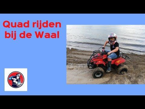 Quad rijden langs de Waal