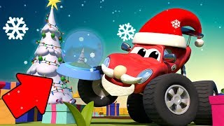 Monster trucks for children - CHRISTMAS CARTOON - The Mystery Gift | Monster Town