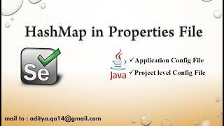 Converting Java Properties File into HashMap in Selenium WebDriver