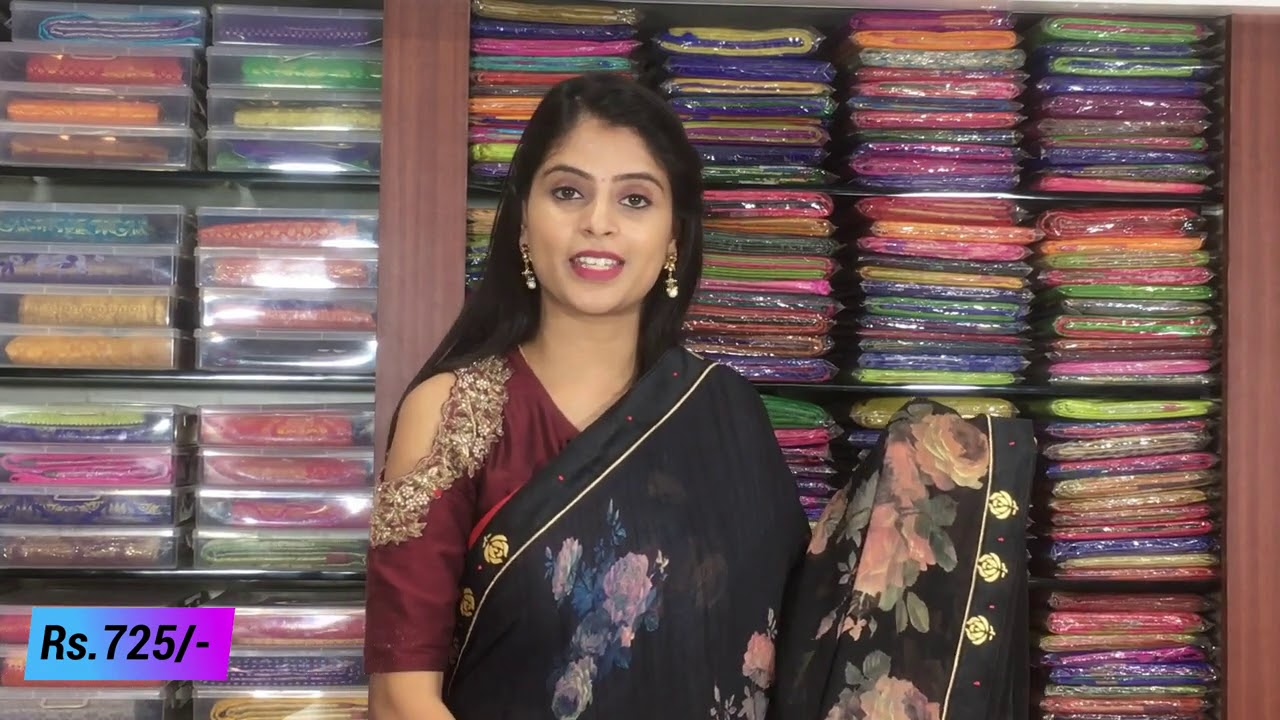 "<p style=""color: red"">Video : </p>Lenin Chiffon Sarees Collections In Very Low 