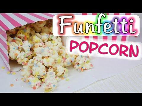 Funfetti Popcorn I White Chocolate Confetti Popcorn I Partysnack