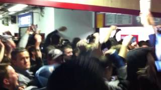 preview picture of video 'Half time Reading FC fan celebrations at Upton Park 2011/12'