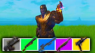 The Thanos *RAINBOW* Challenge in Fortnite!