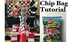 Mickey And The Roadster Racers Party Decor With Chip Bag Tutorial