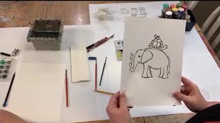 Watercolor Animals- Made With McHarper Week 1, Episode 1 - Art Tutorials Crafts At Home