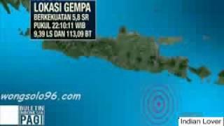 Heboh Nih  Gempa Guncang Jawa Timur Warga Pun Berhamburan Keluar Rumah